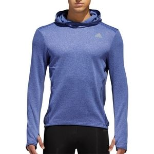 Adidas Blue Response Running Hoodie